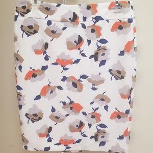 Nine West Floral Pencil Skirt